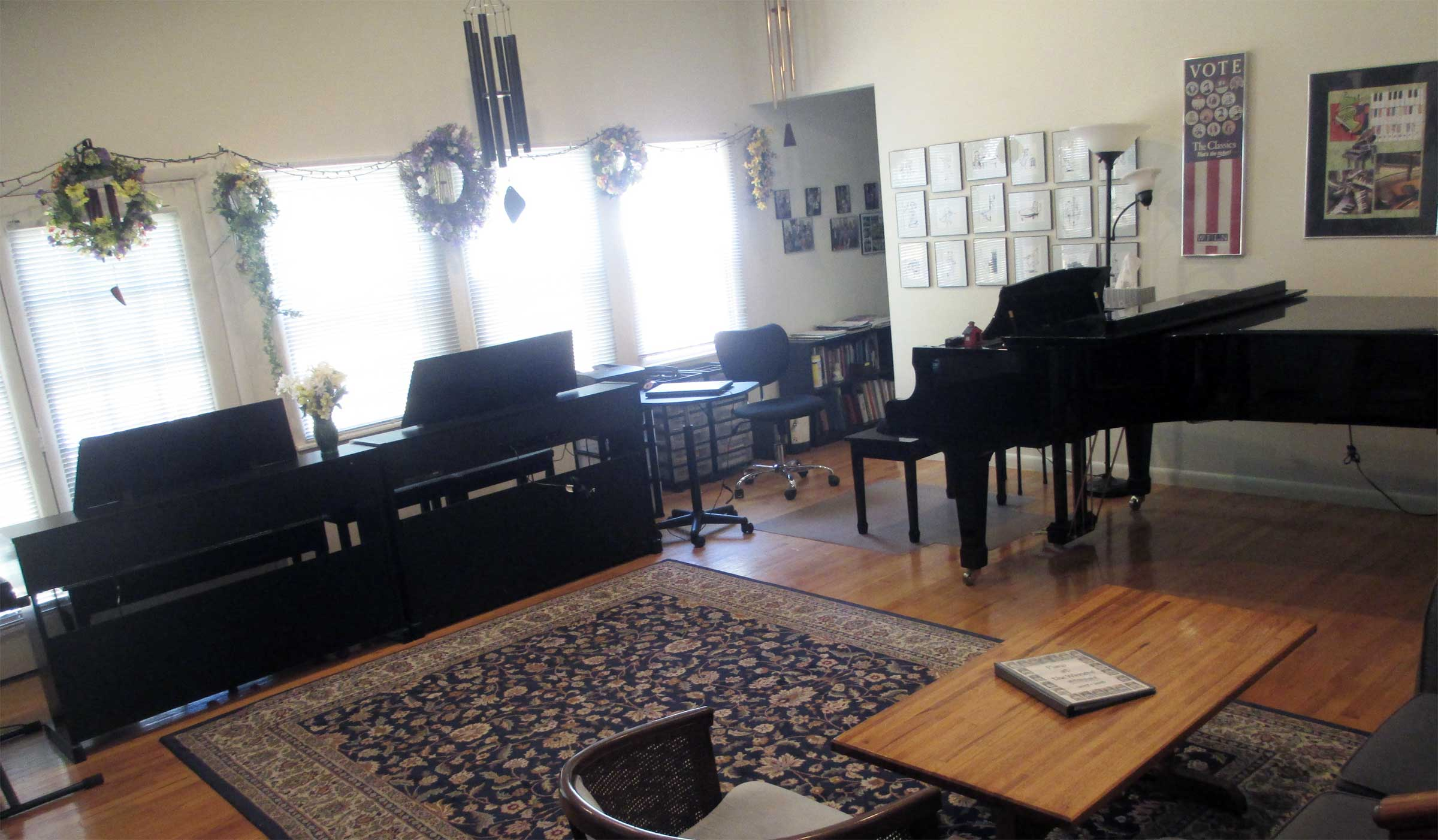 Weekly piano lessons and regular group activities at Winner Piano Studio.